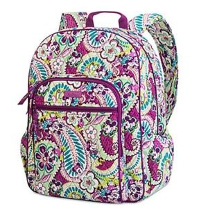 Vera Bradley Campus Backpack Mickey Plums Up
